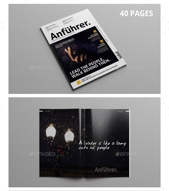 40 Pages | Multipurpose Magazine Template