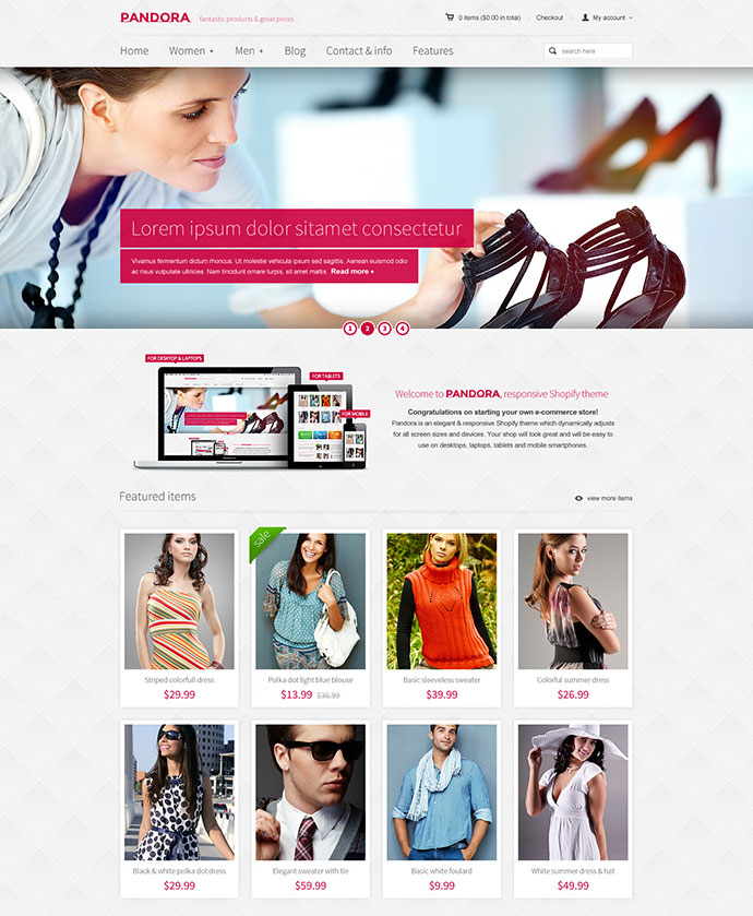 Pandora Responsive Shopify HTML5 Theme
