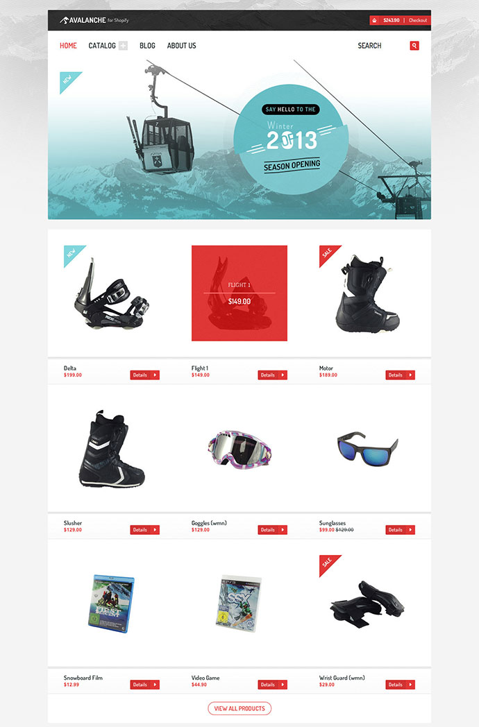 Avalanche for Shopify Responsive Premium Theme