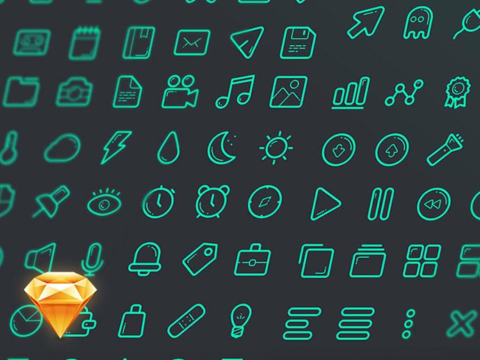 Free Sketch Icon Set