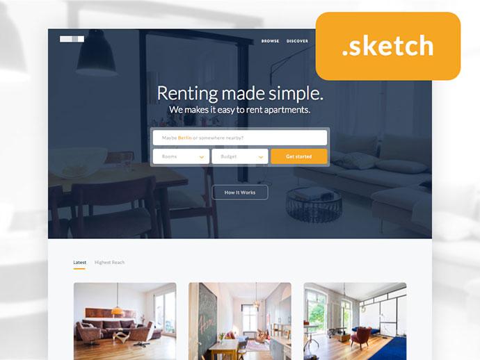 Freebie : Real Estate Homepage