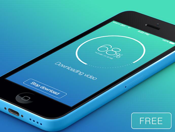 Download app UI Sketch freebie