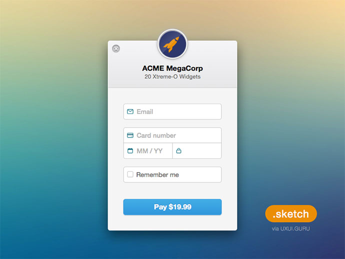 Stripe Checkout Sketch Freebie