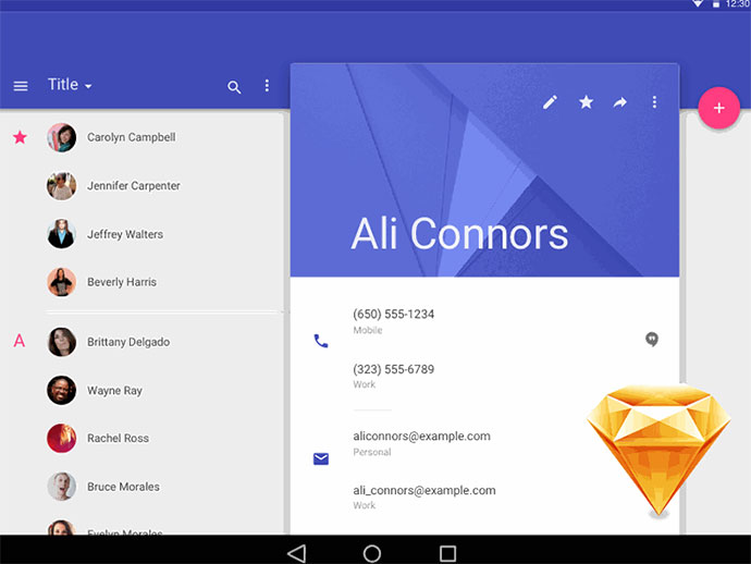 Material Design [Free .Sketch Template & Icons]
