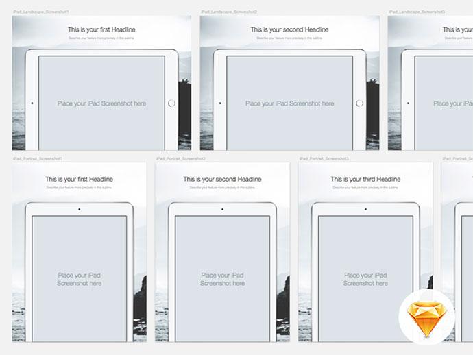 iPad App Store Assets - Sketch file