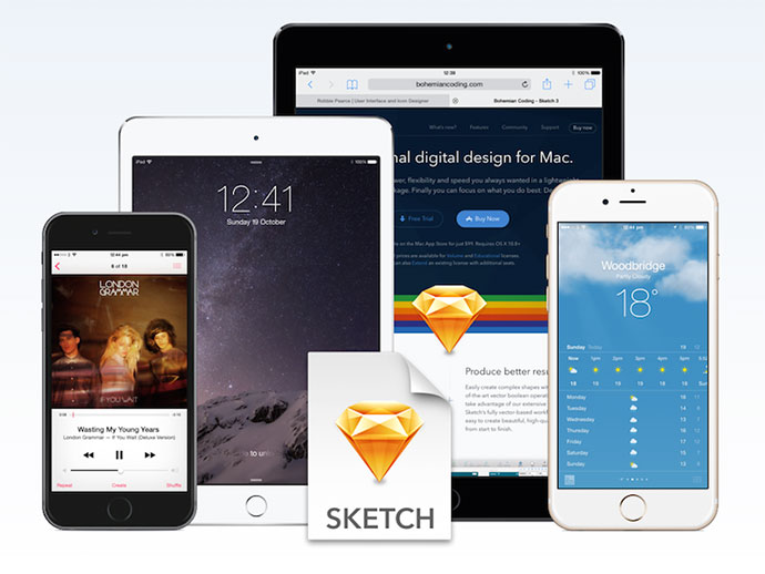 Free iOS Devices for Sketch v3