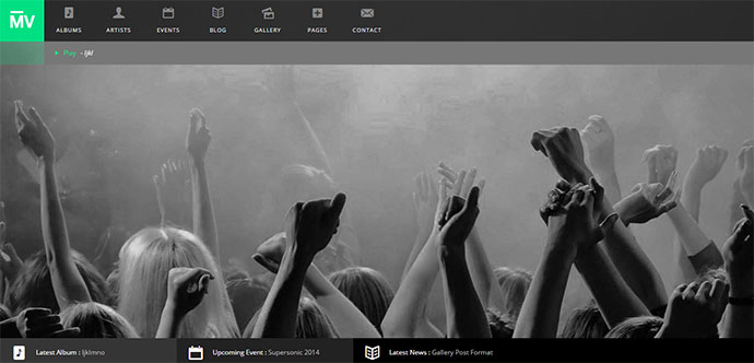 MusicVent - Premium Music & Event WordPress Theme