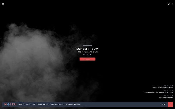 Noizu Wp - Full Screen Music Theme
