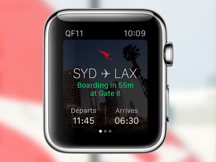 Qantas app for Apple Watch