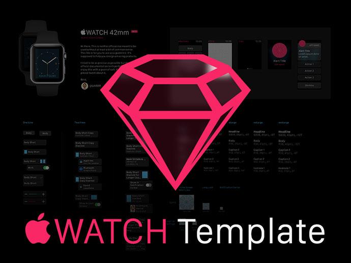 Apple Watch GUI Sketch Template