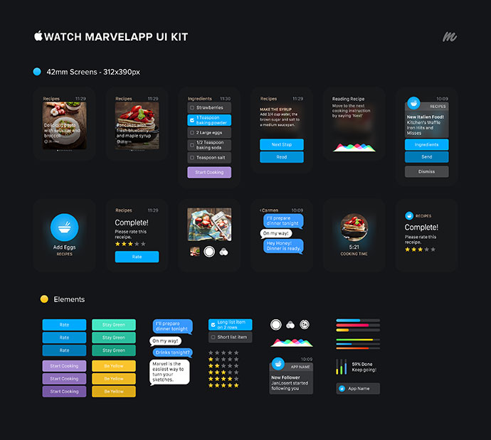 Apple Watch Marvelapp Ui Kit