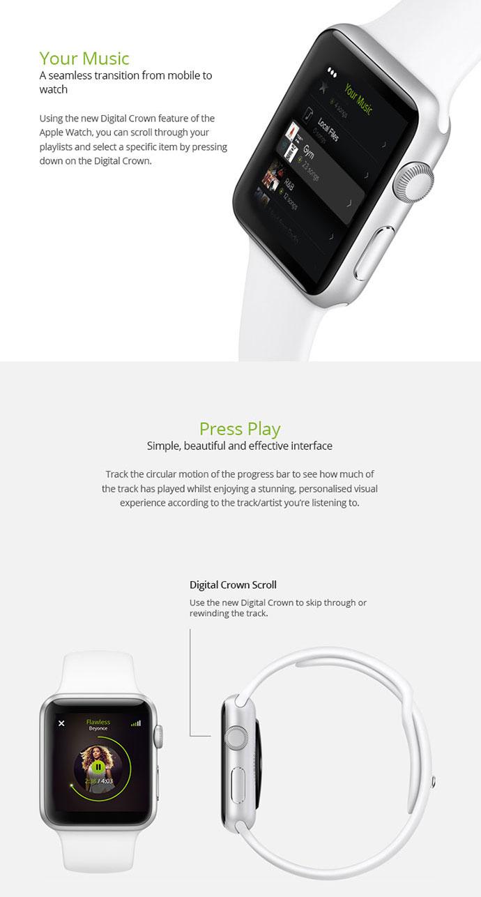 Spotify Pulse - Apple Watch UI