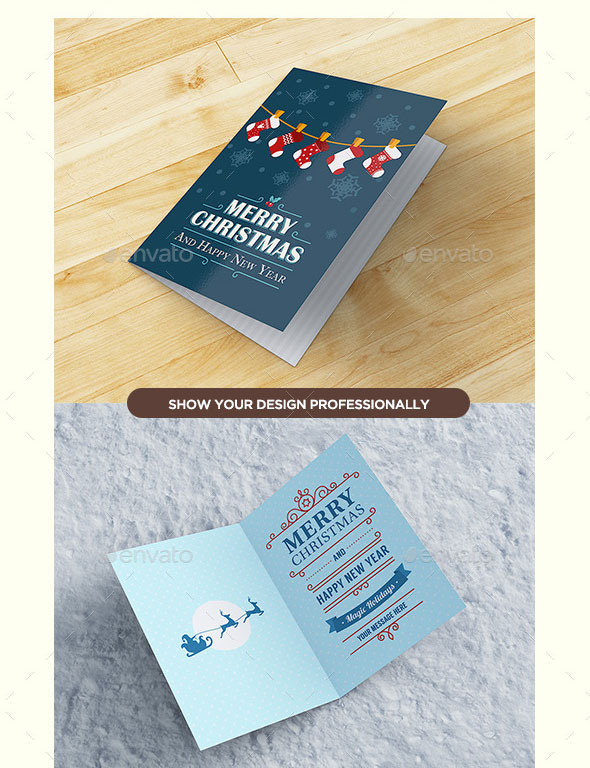 Invitation & Greeting Card Mockup
