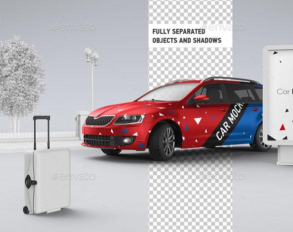 Car Mockup | Billboard Mock-up