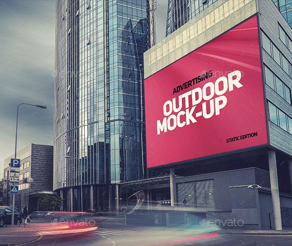 Animated Outdoor Advertising Mock-ups