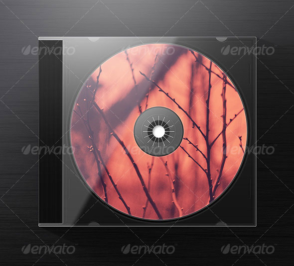 Photorealistic Jewel CD Case Mock-Up