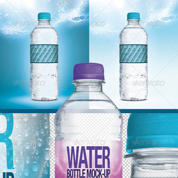 Fresh Water Bottle Mock-Up