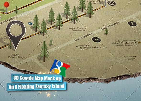 3D Google Map Mock up