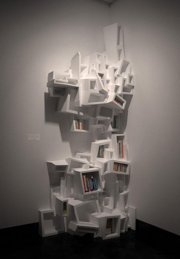 Experimental Bookshelves by Ulterior via Behance