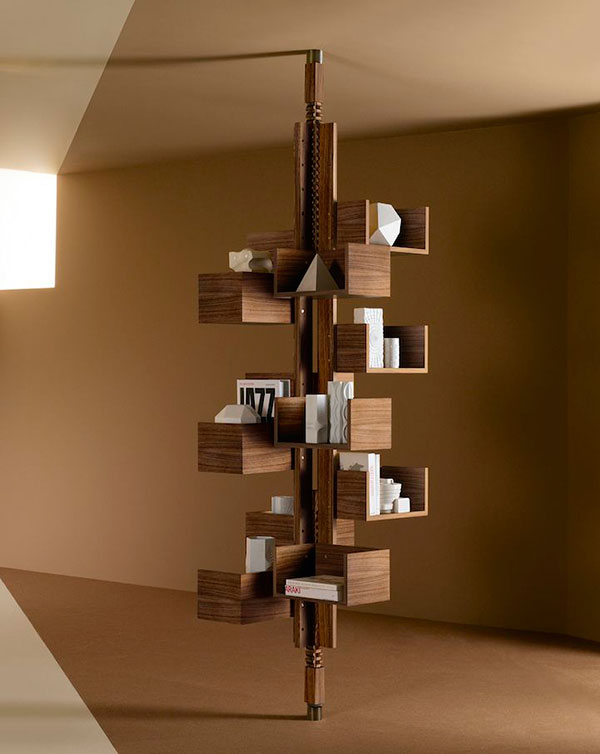 Modern Free Standing Bookcase Designed to Mimic a Tree