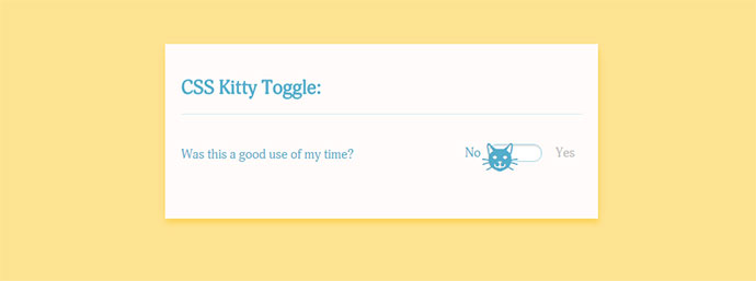CSS Kitty Toggle