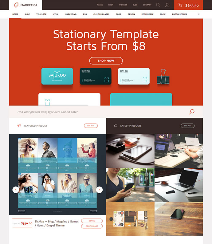 Marketica - Marketplace WordPress Theme