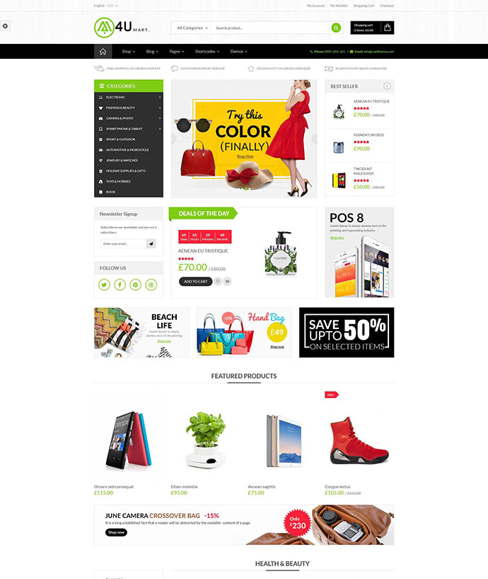 M4U - Multi Store Responsive WordPress Theme