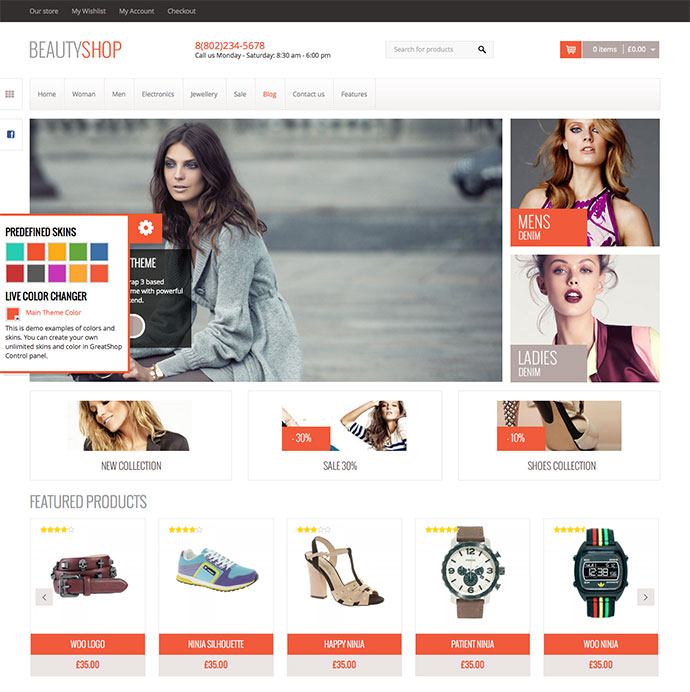BeautyShop - WordPress WooCommerce theme