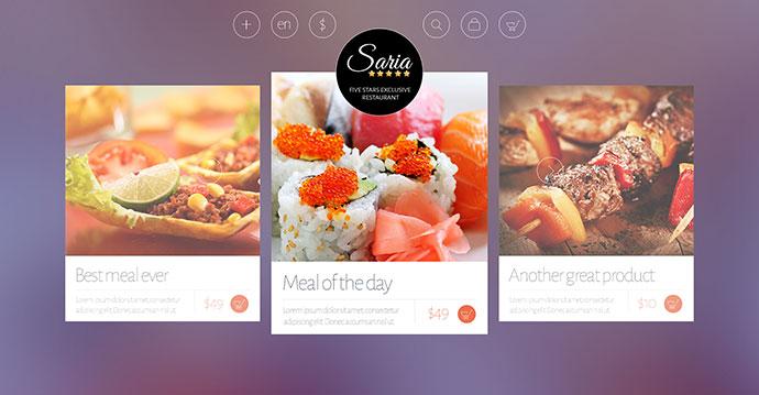 Saria Shop - Flat Responsive WordPress Theme