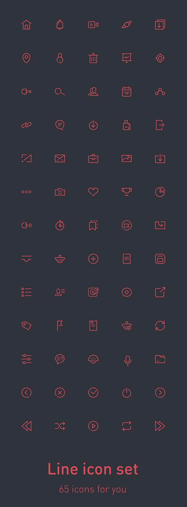 65 free icons
