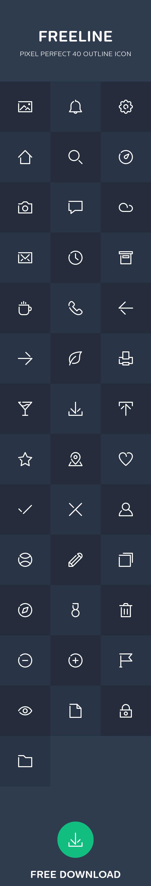 Freeline - 40 free outline icon