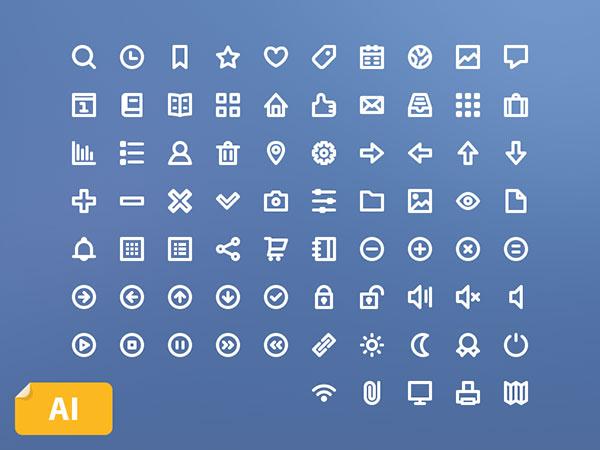 75 Free Line Icons