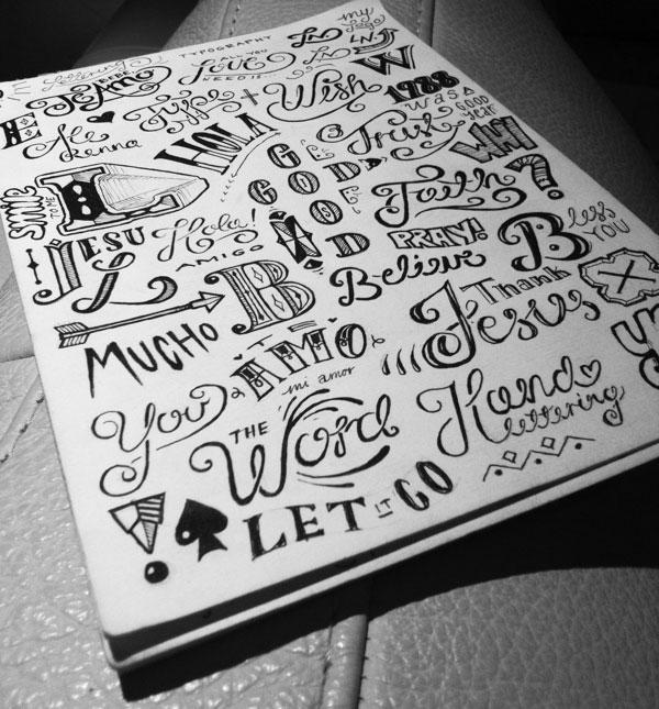 26 inspiring typography sketchbooks web graphic design bashooka