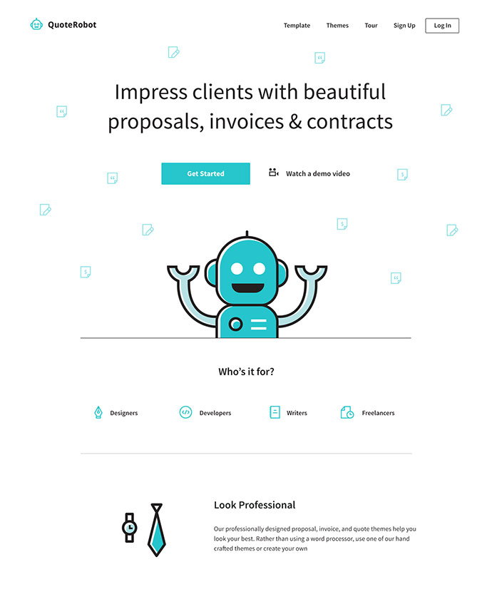 QuoteRobot Landing Page