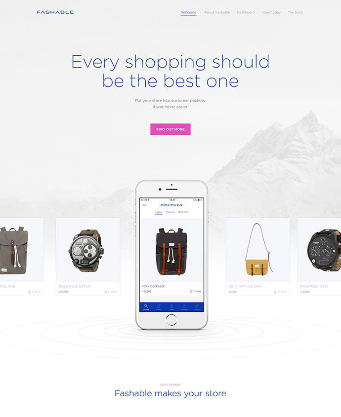 Fashable Landing Page