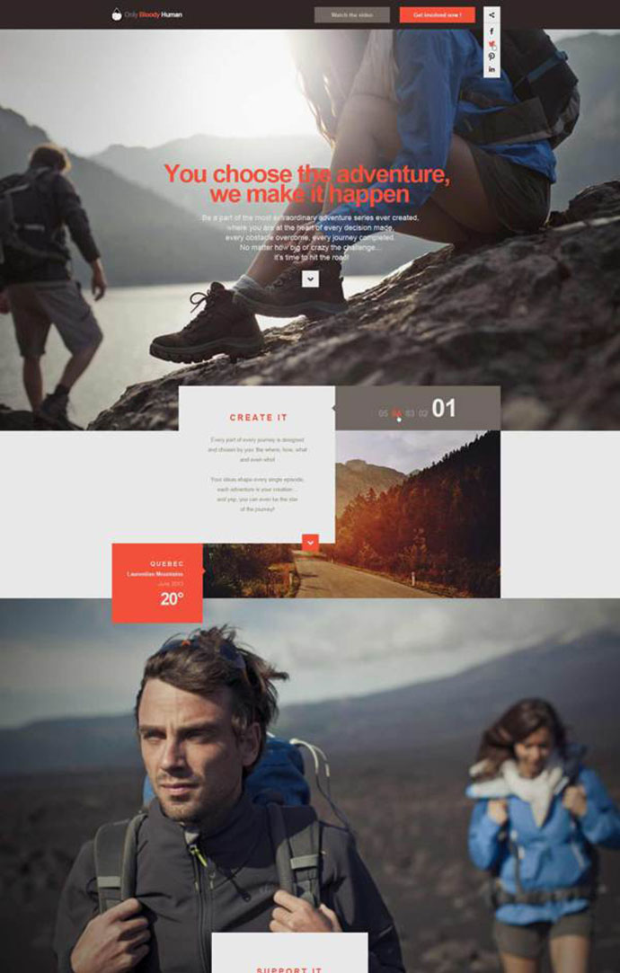 OBH Landing Page Concept