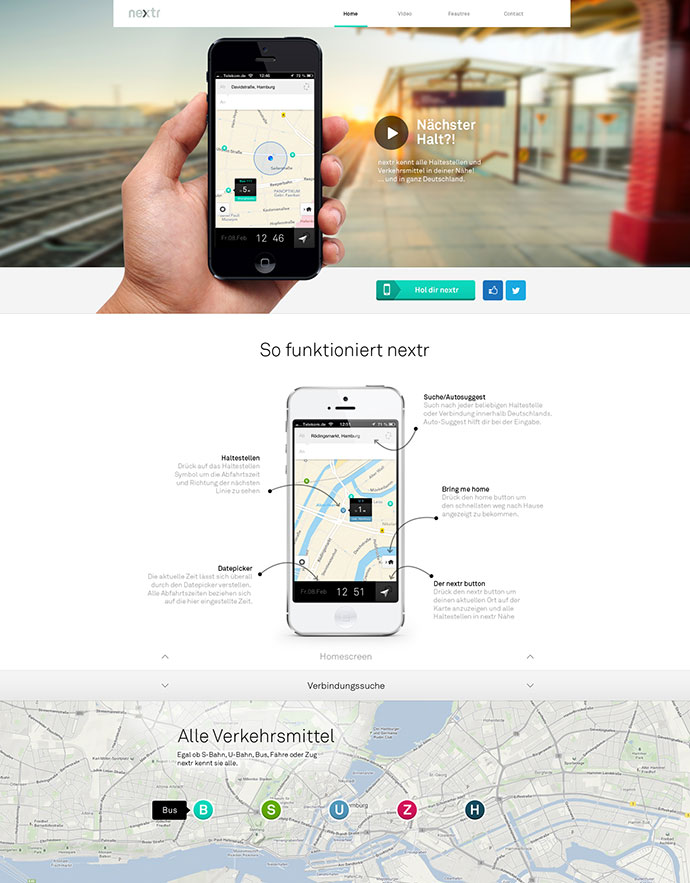 nextr app landing page
