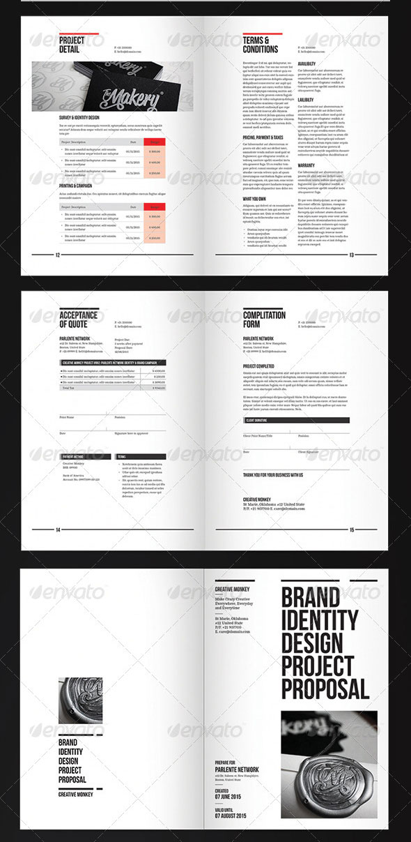 20 proposal templates for web design project