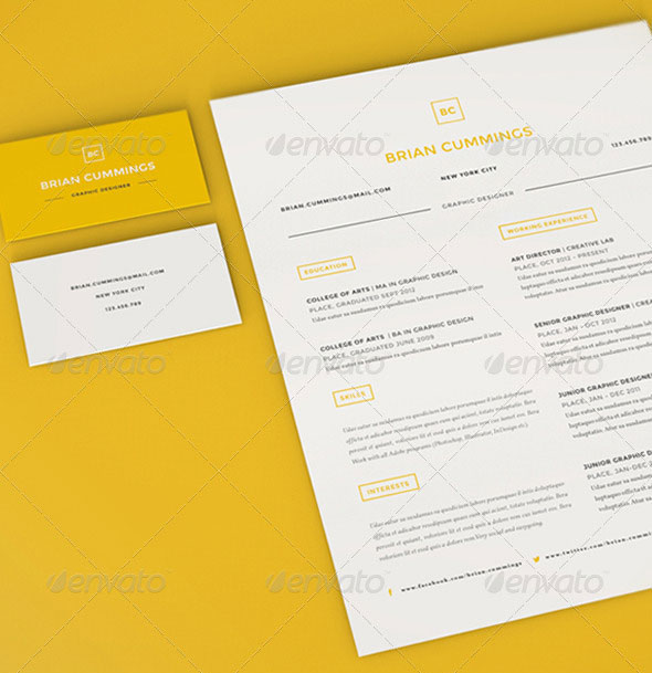 Clean Resume Set