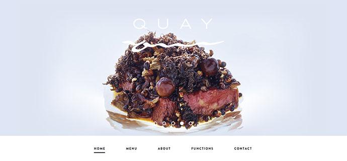 quay restaurant website