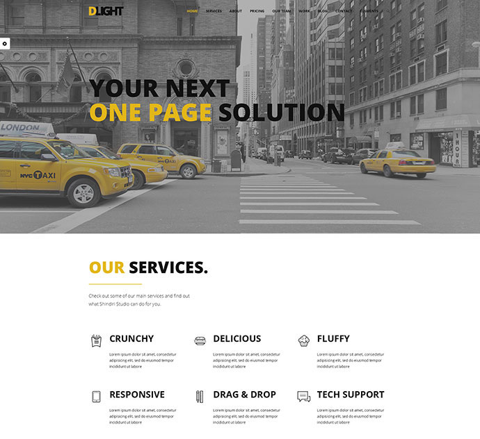 D-Light - One Page WordPress Creative Template