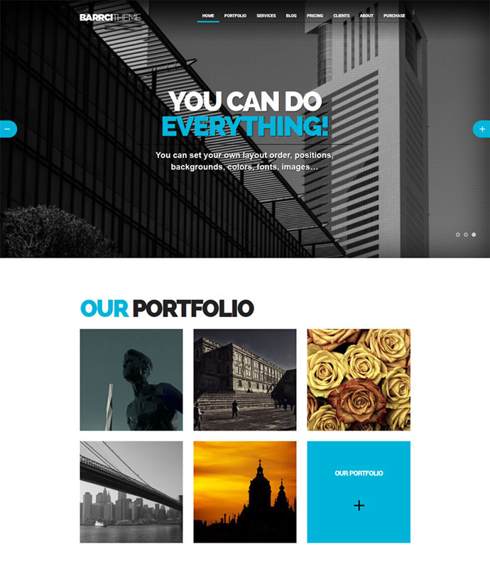Barrci - Responsive One Page Photo & Portfolio