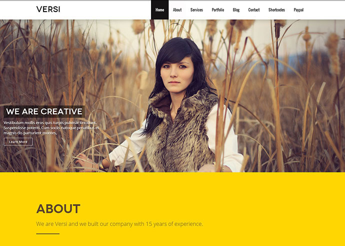 Versi - Onepage WordPress Theme