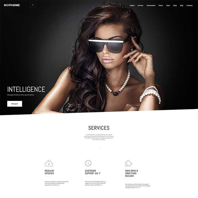 Mo | One Page Parallax WordPress Theme