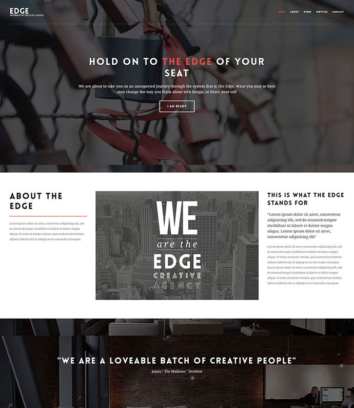 The Edge - One Page Multipurpose WordPress Theme