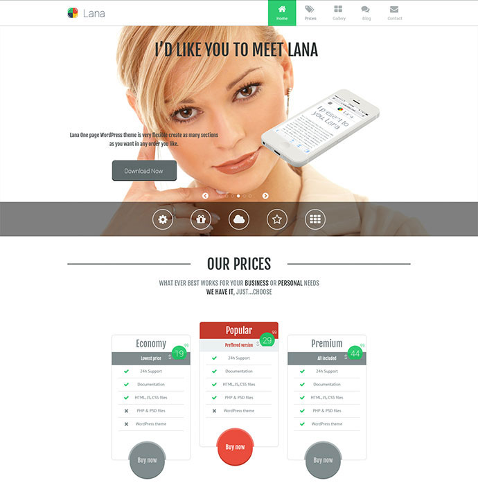 Lana - One Page WordPress Theme