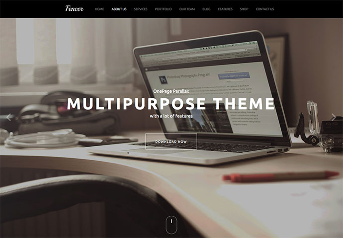 Fencer 2 - One Page Multi-Purpose Parallax Theme