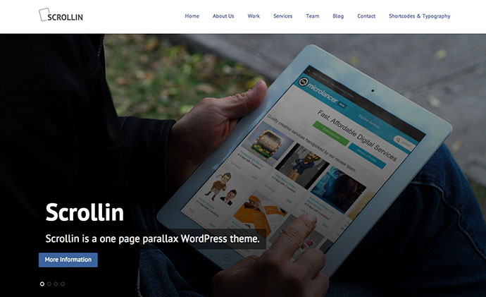 Scrollin - One Page Responsive WordPress Theme