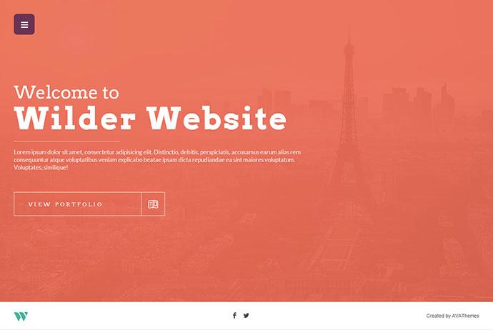 Wilder - Flat One Page Responsive WordPress Theme