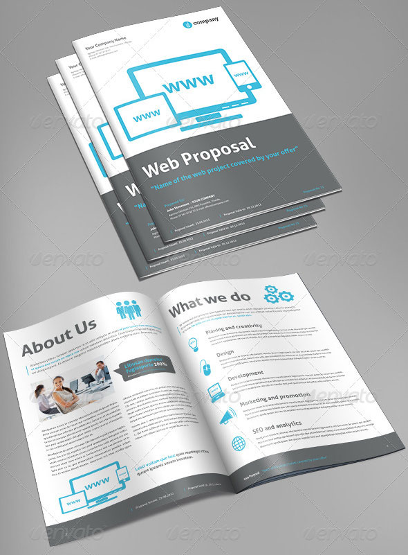 Proposal Templates For Web Design Project  Web  Graphic